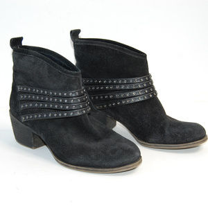 {Jessica Simpson} Black Suede Ankle Booties Sz 6.5